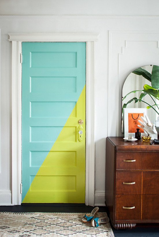 Awesome Color Block Door