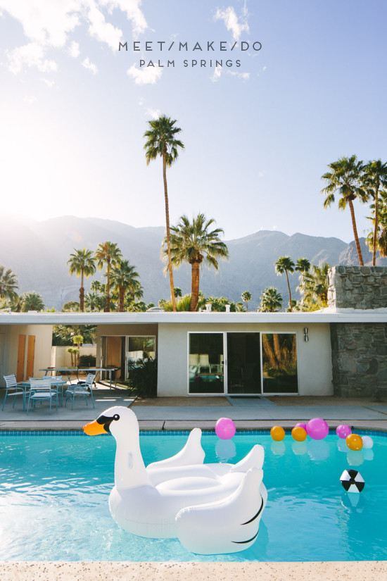 MMD in Palm Springs / pool with a swan