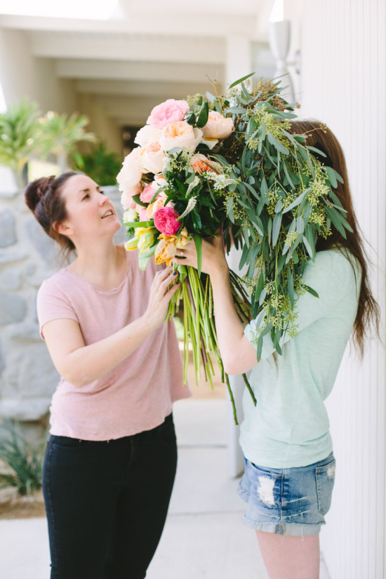 Behind the Scenes // Making a giant bouquet