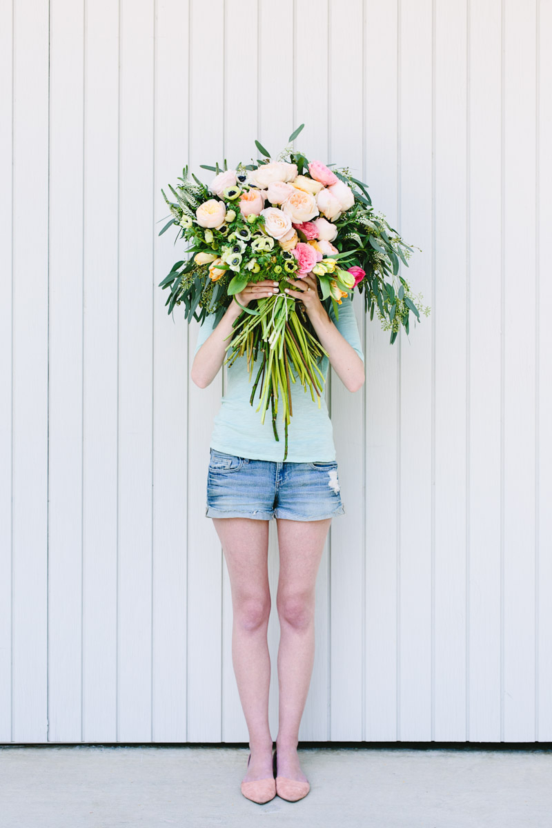 Make This Giant Diy Flower Blocked Bouquet Paper And Stitch