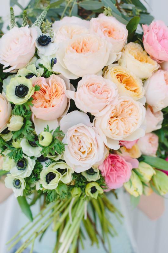 Garden Roses + Anemones +