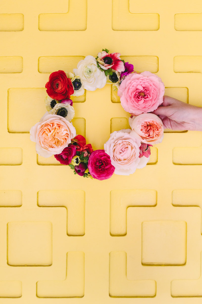 Make This Geometric Floating Flower Wreath Paper And Stitch