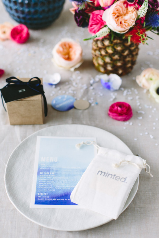 Watercolor Menus + Mini Art Prints from Minted