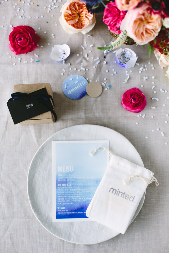 Placesetting for Modern Fiesta Dinner