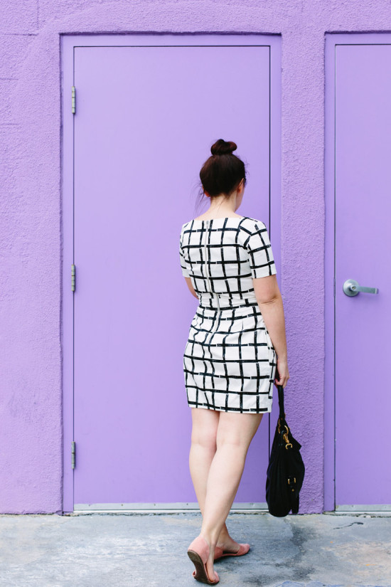 Wear This // Black + White Dress