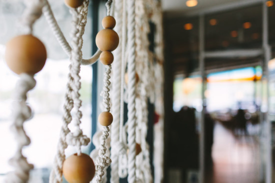 Ace Hotel // hanging rope and beads