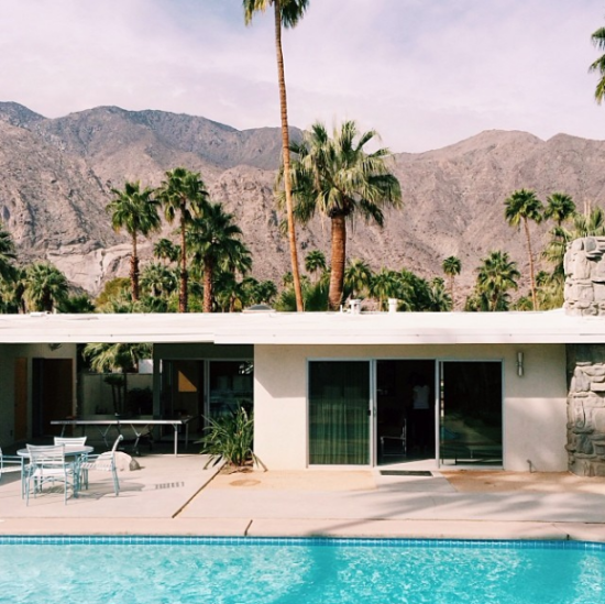Palm Springs architecture (with a pool)
