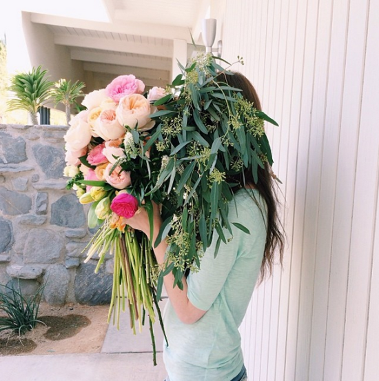 Flower DIY // giant floral bouquet