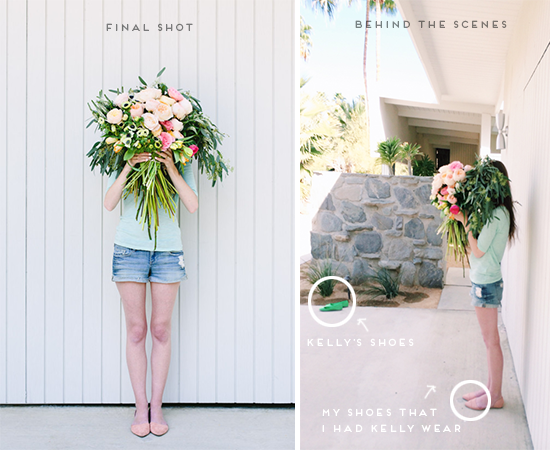 Behind the Scenes // Giant DIY Bouquet Shoot