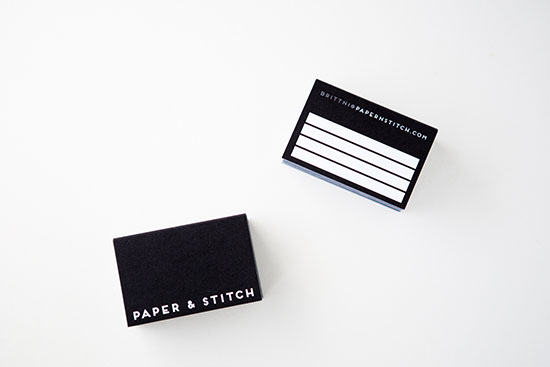 super minimal business cards