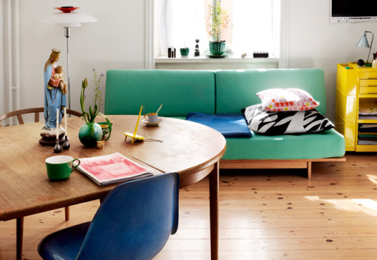 colorful furniture in interiors