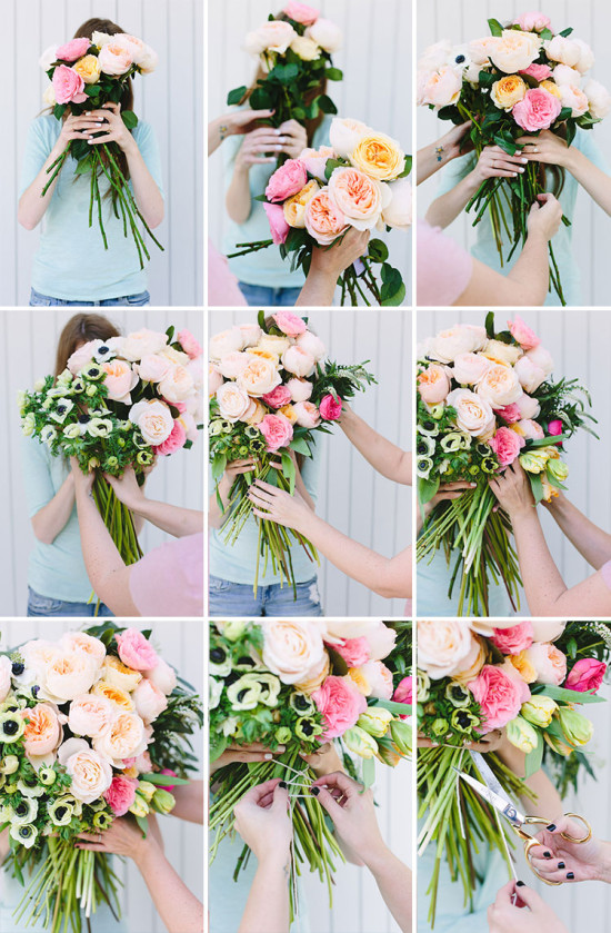 how to make a unique bouquet with garden roses