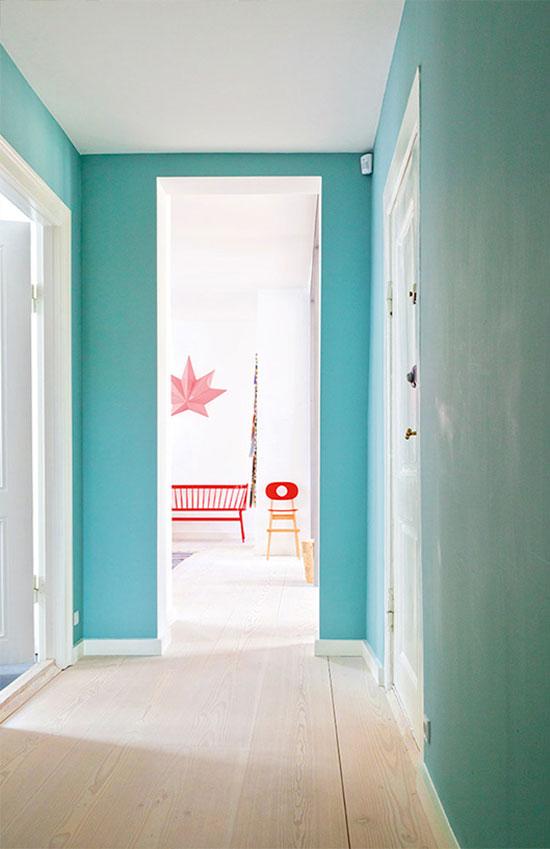 Turquoise Hallway