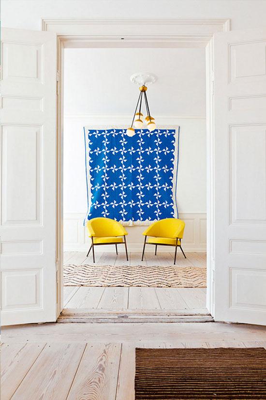 Yellow and Royal Blue Interior