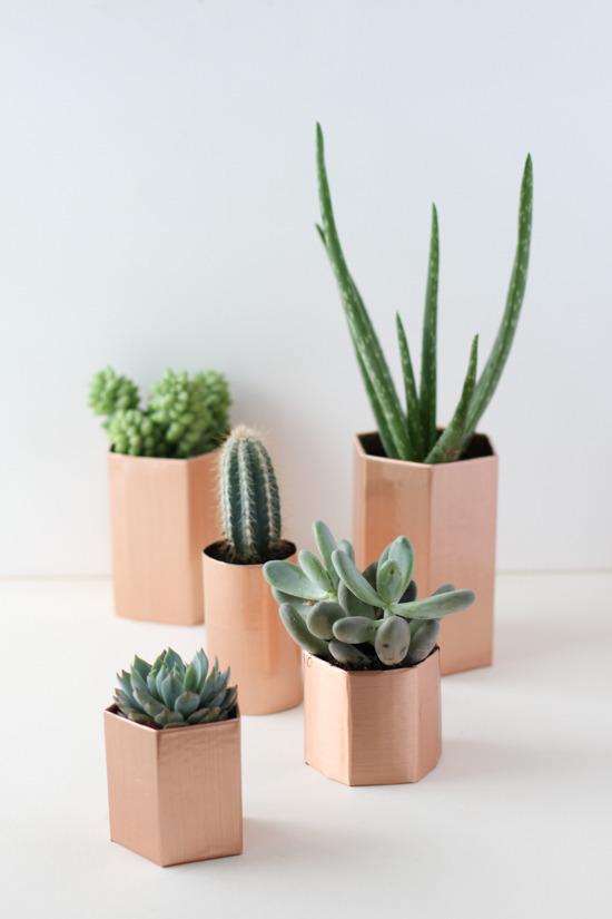 5 Minute Copper Planter DIY