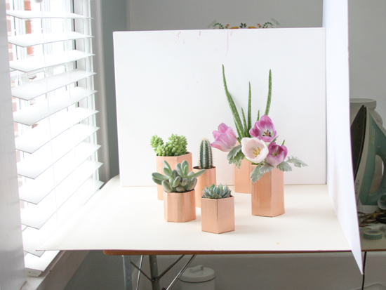Behind the Scenes // copper planters project