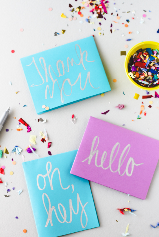 Hand Lettered Greeting Card DIY
