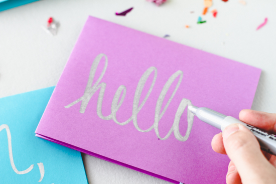 DIY // Hand Lettered Hello Card