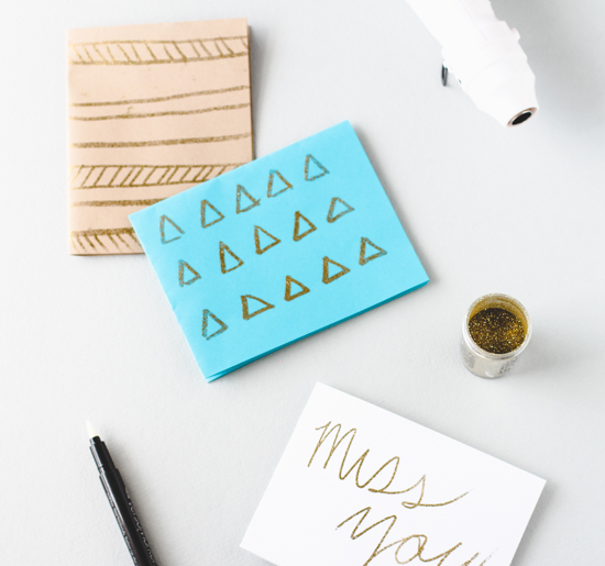 DIY Embossed Notecards