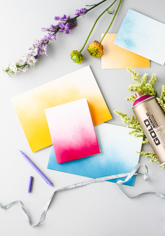 DIY Greeting Card #3 // Ombre Spraypaint