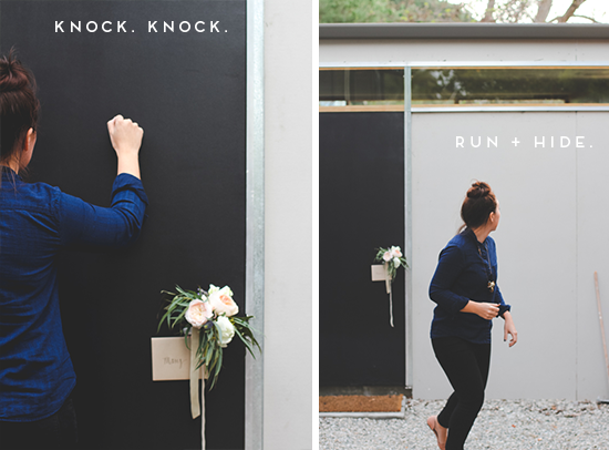 Knock, knock, run // surprise flower bouquet bombing