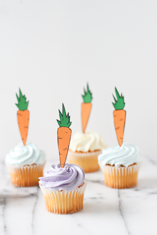 Easy Easter Cupcake Toppers for Kids