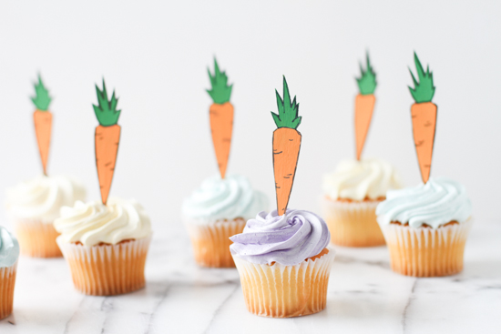 Make These Carrot Cupcake Toppers for Easter