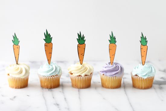 Easter DIY // Carrot Cupcake Topper