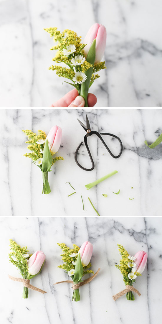 How To // Tiny Spring Bouquet DIY with Tulips