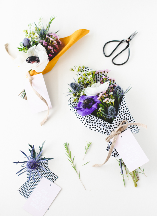 Fabric Wrapped Bouquet