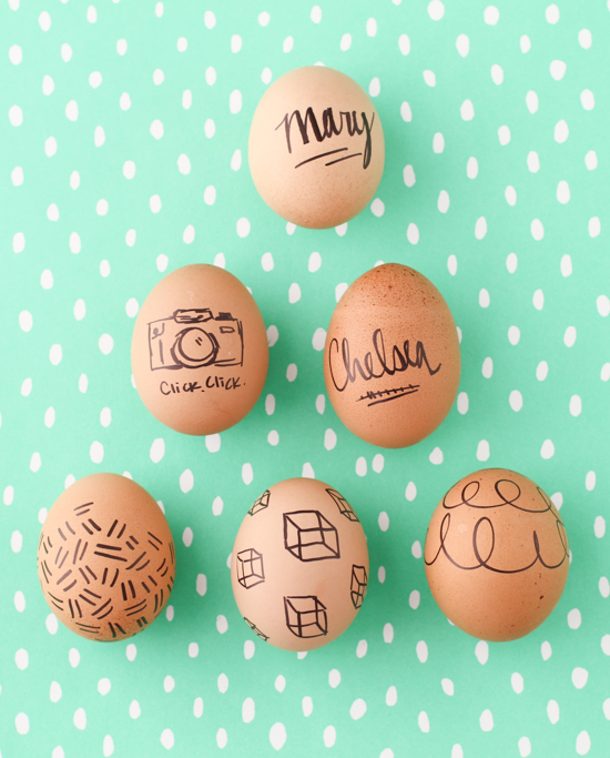 Easter Egg Drawings + Doodles DIY
