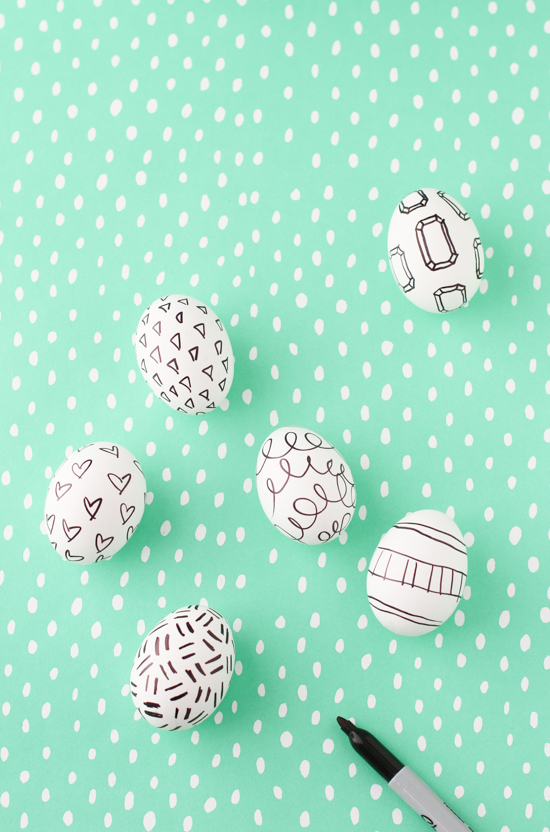DIY To Try Easter Egg Sharpie Doodles