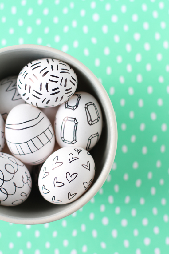 Easter DIY Sharpie Drawings + Doodles