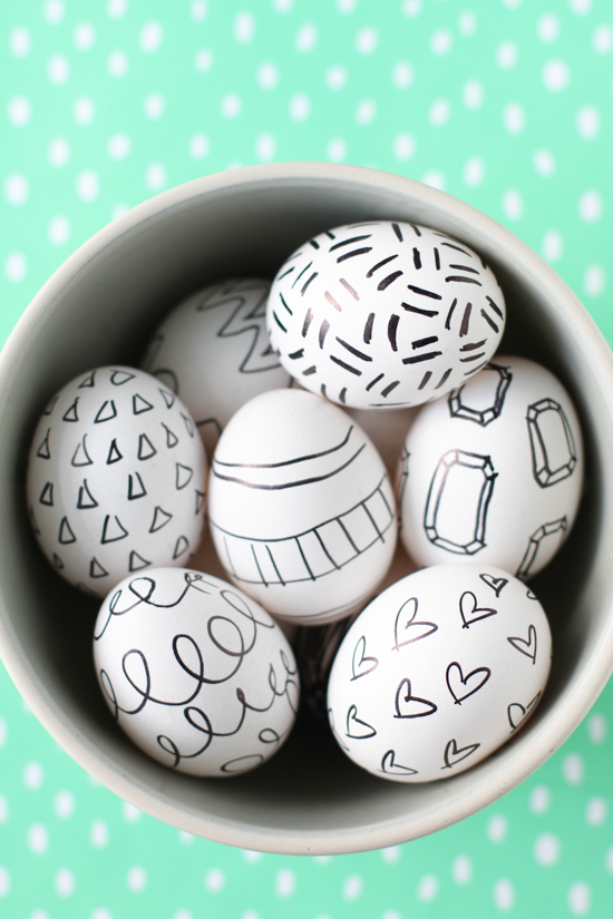 Easter Egg Sharpie Drawings + Doodles