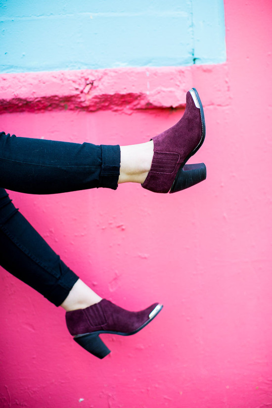 Awesome Shoes on a Color Blocked Wall