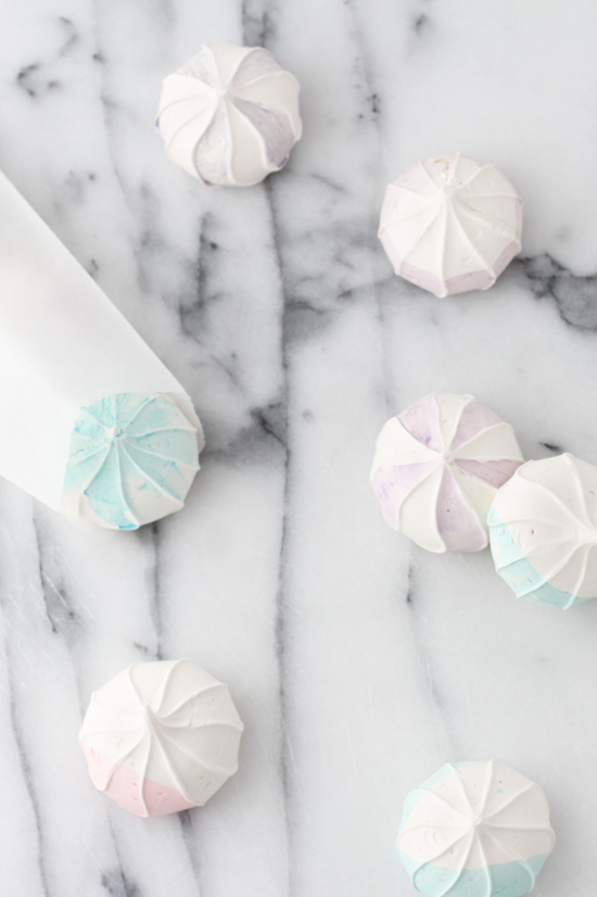 DIY Watercolor Inspired Meringues