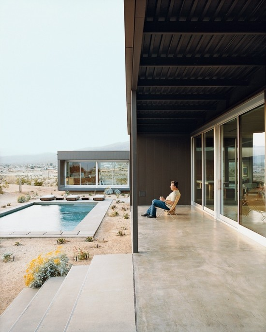 Swimming pool and exterior from Dwell