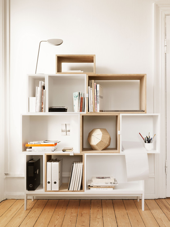 Cool shelving system for books + decor