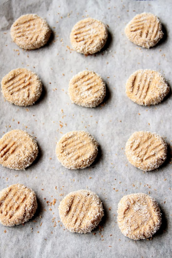 peanut butter cookies with coconut