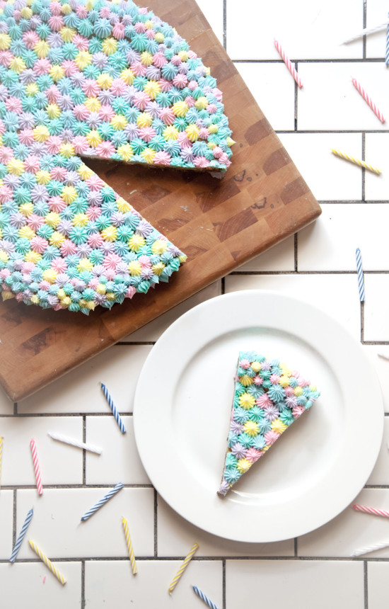 Colorful Pastel Cookie Cake