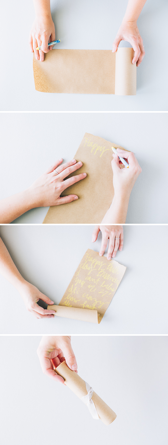 How to make a paper scroll