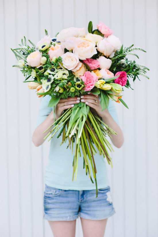 Giant DIY bouquet of flowers