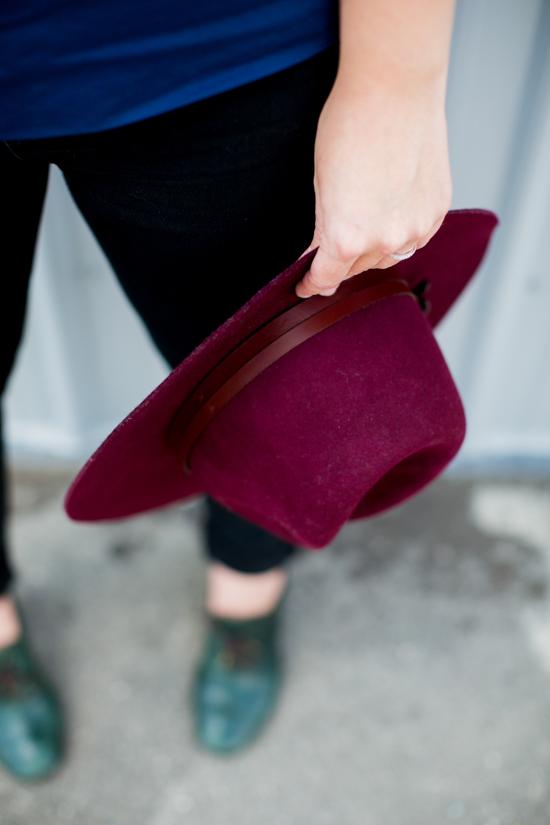 Wear This // burgundy hat