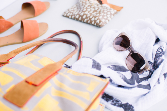 Colorful Travel Tote + Sunnies