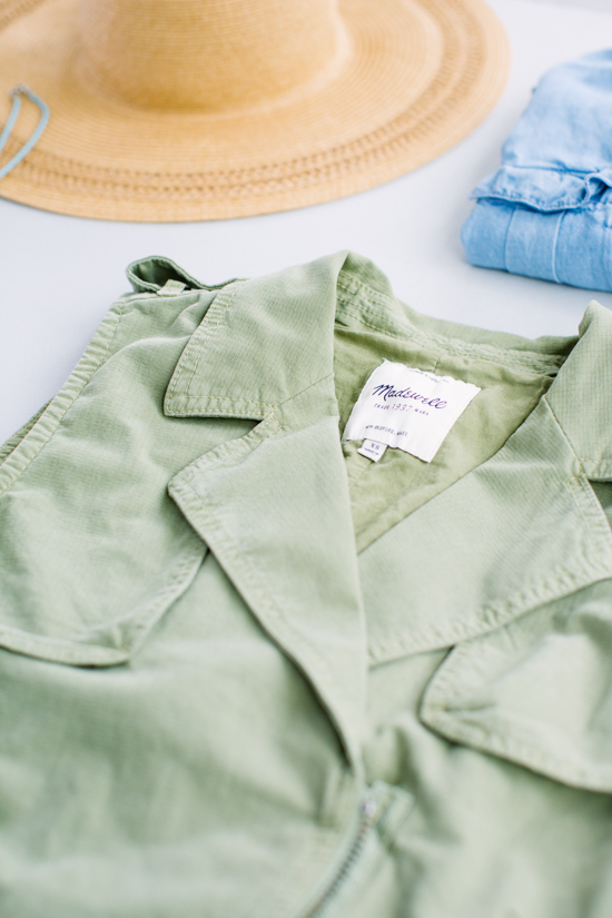 Vest from Madewell in Army Green