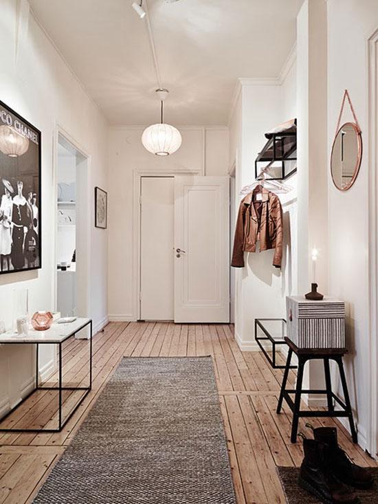 Great wood floors in this entryway