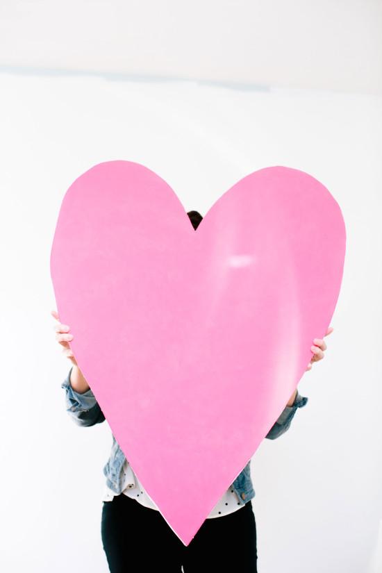 3 feet tall DIY pink heart