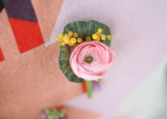 Colorful DIY Spring Boutonniere Idea