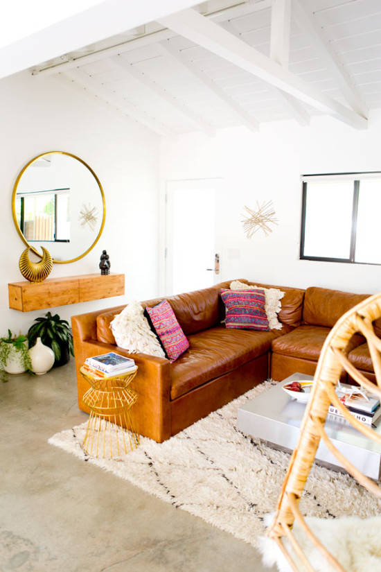 A comfy leather for the living room