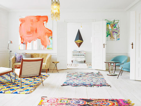 Colorful Abstract Artwork + Beautiful Rugs